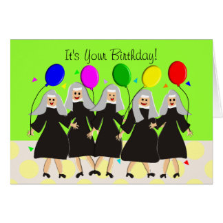 Katholische Nonnen-alberne Geburtstags-Karte Grußkarte