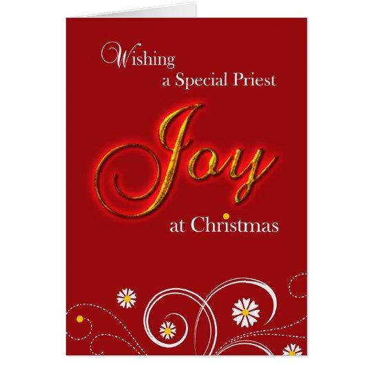 Katholischer Priester, Freude am Weihnachten Karte