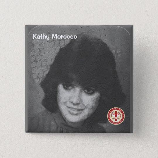 Kathy Marokko Quadratischer Button 5,1 Cm