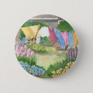 Kathys Wäscherei auf Monhegan ist runder Knopf Runder Button 5,7 Cm