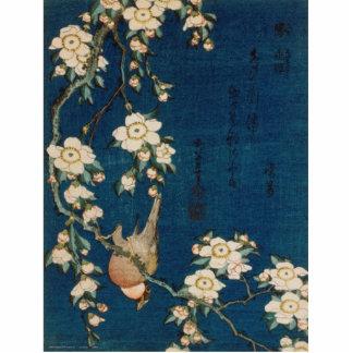 Katsushika Hokusai 葛飾北斎 Goldfinch und Kirschbaum Freistehende Fotoskulptur