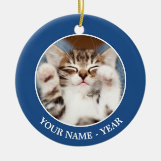 Kätzchen auf meinem Schoss Keramik Ornament