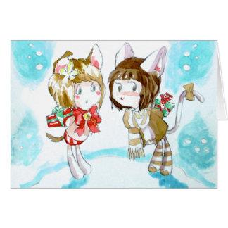Kätzchen-Geschenk-Austausch Karte