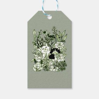 Kätzchen in den Wildblumen Geschenkanhänger