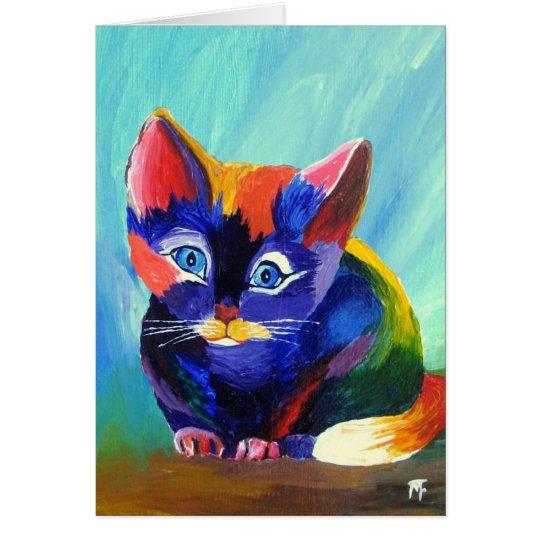 Kätzchen-Malerei-Gruß-Karte Karte