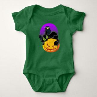 Kätzchen-u. Eulen-Baby-Jersey-Bodysuit Baby Strampler