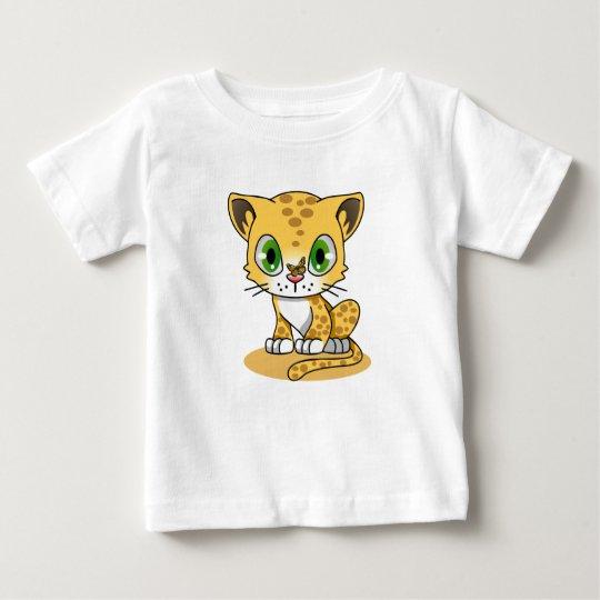 Kätzchen und Schmetterling Baby T-shirt