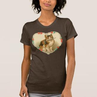 Kätzchen-Valentinsgruß T-Shirt