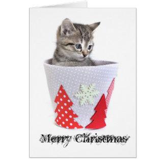 Kätzchen-Weihnachtskarte Karte