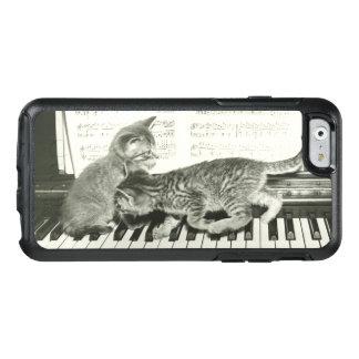 Kätzchen zwei, das auf Klaviertastatur spielt, OtterBox iPhone 6/6s Hülle