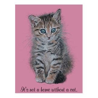 """Kätzchenkunst """"es ist nicht ein Zuhause ohne eine Postkarte"""