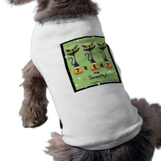 Katze auf Süßigkeits-Mais-Leckerei ich Süß-Grün T-Shirt