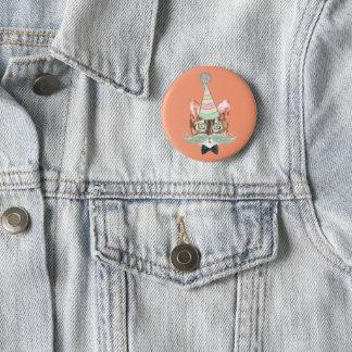 Katze Besessenheit Runder Button 5,7 Cm