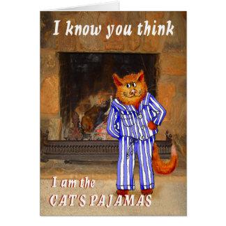 Katze, denken, dass ich die Pyjamas der Katze bin Karte