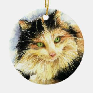 Katze des Kaliko-0010 Keramik Ornament