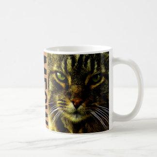 Katze, die Augen-FotoMeow Hypnotizing ist Kaffeetasse