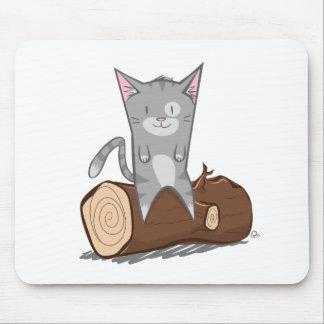 Katze ein Klotz - Mäusematte Mauspads