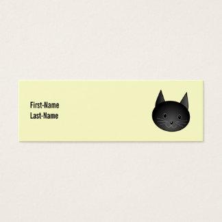 Katze. Entzückender schwarzer Kitty. Mini Visitenkarte