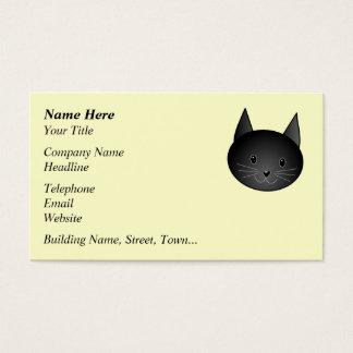 Katze. Entzückender schwarzer Kitty. Visitenkarte