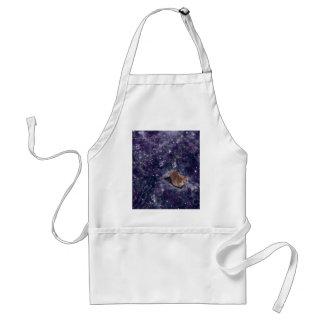 Katze in der Raum-lila Galaxie Schürze
