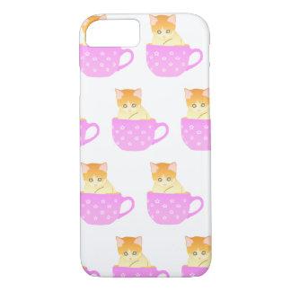 Katze in einer Schale iPhone 8/7 Hülle