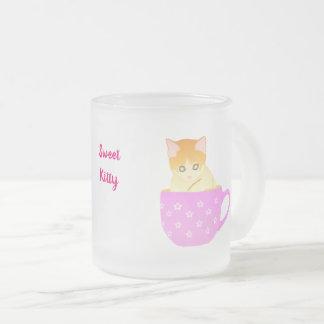 Katze in einer Schale Mattglastasse