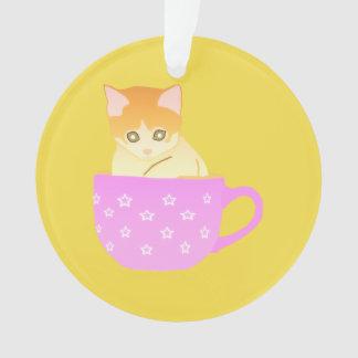 Katze in einer Schale Ornament