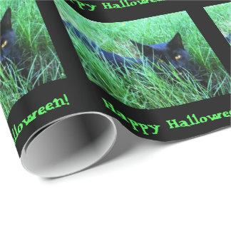 Katze-in-Gras Halloween-Gewohnheit Geschenkpapier