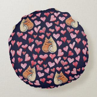 Katze lovins rundes kissen