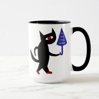 Katze mit einem Regenschirm Tasse