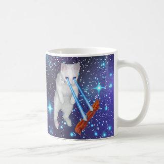 Katze mit Laser-Augen Speck im Raum kochend Tasse