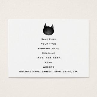 Katze. Niedlicher schwarzer Kitty. Visitenkarte