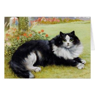 Katze Notecard, Vintage Katzen-Karte Louis Wain Karte