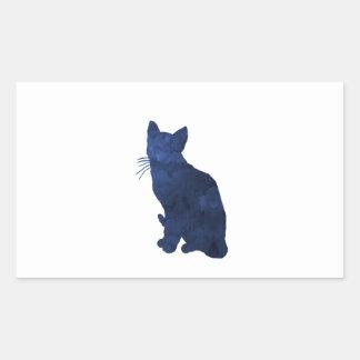 Katze Rechteckiger Aufkleber