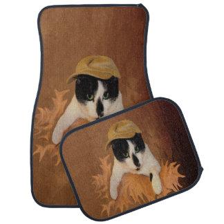 Katze Sinti und Roma-DA Fleuky und die Autofußmatte