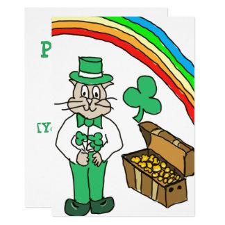 Katze St. Pattys Tages, diekarte zeichnet Karte