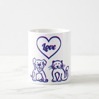 Katze und Hund Tassen