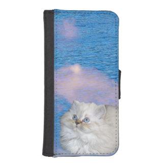 Katze und Wasser Geldbeutel Hülle Für Das iPhone SE/5/5s