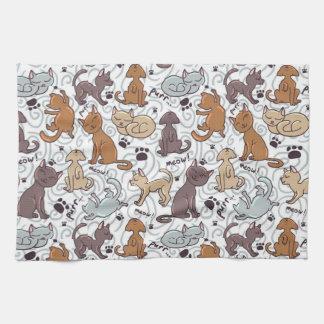 Katzen-Alltagsleben Handtuch