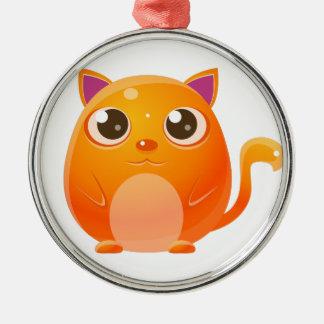 Katzen-Baby-Tier in der Girly süßen Art Silbernes Ornament