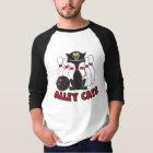 Katzen-Bowlings-Buttone T-Shirt
