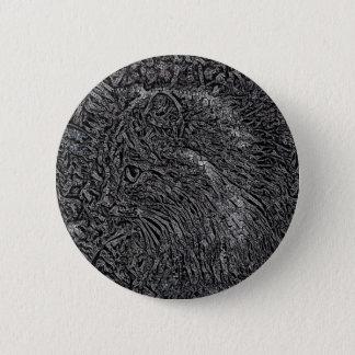 Katzen-Buntglas-Art Runder Button 5,7 Cm