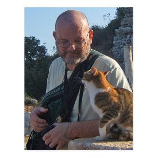 Katzen-Chat in Ephesus Postkarte
