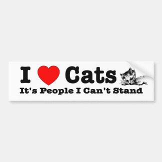 Katzen des Herzens I (Liebe), ist es Leute, die Autoaufkleber