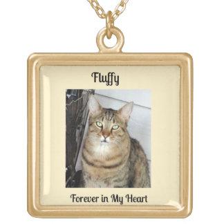 Katzen-Erinnerungsgeschenk, Vergoldete Kette