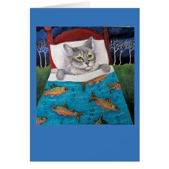 Katzen-Fische Grußkarte
