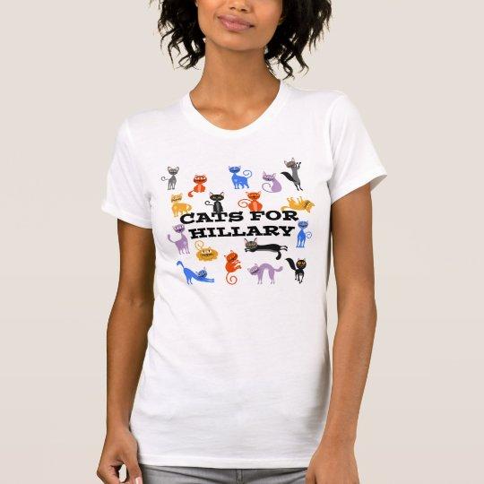 Katzen für politischen T - Shirt Hillary für