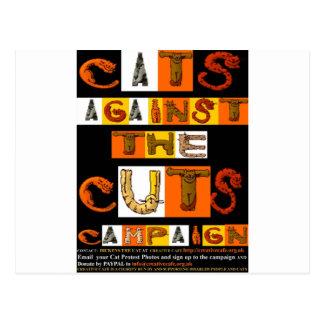Katzen gegen die Schnitt-Kampagne Postkarten