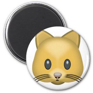 Katzen-Gesicht Emoji Runder Magnet 5,1 Cm