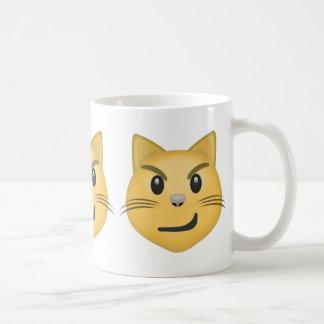 Katzen-Gesicht mit gequältem Lächeln Emoji Kaffeetasse